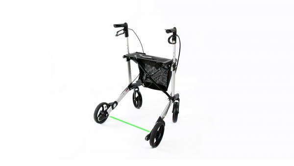 Rollator mit Laserlinie